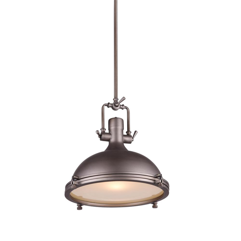 CWI Lighting Show 1-Light Gray Chandelier-9602P16-1-187 - The Home Depot