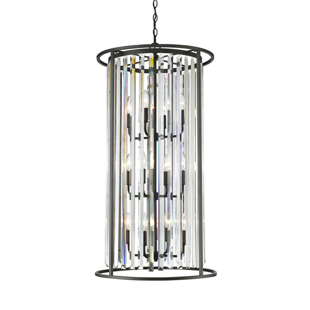 Filament Design Mersesse 12 Light Bronze Chandelier With Clear