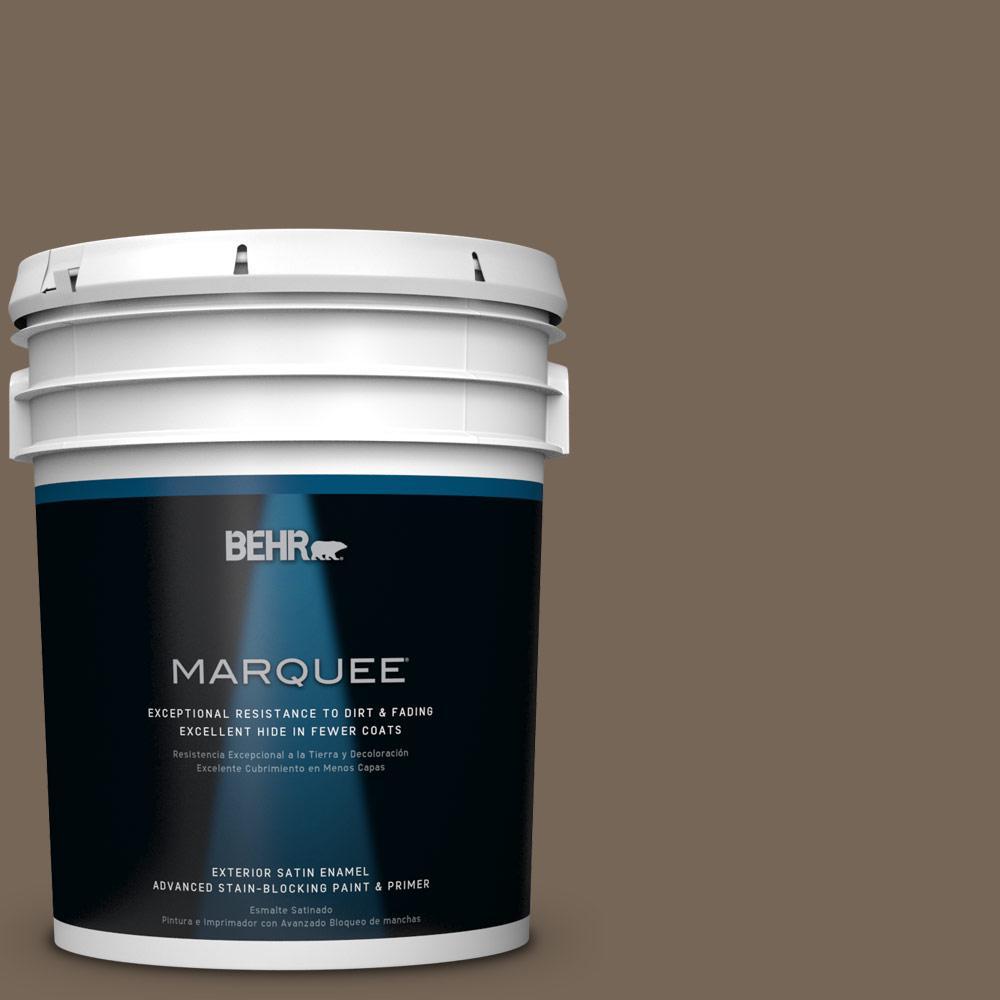 BEHR MARQUEE 5-gal. #N220-6 Landmark Brown Satin Enamel Exterior Paint