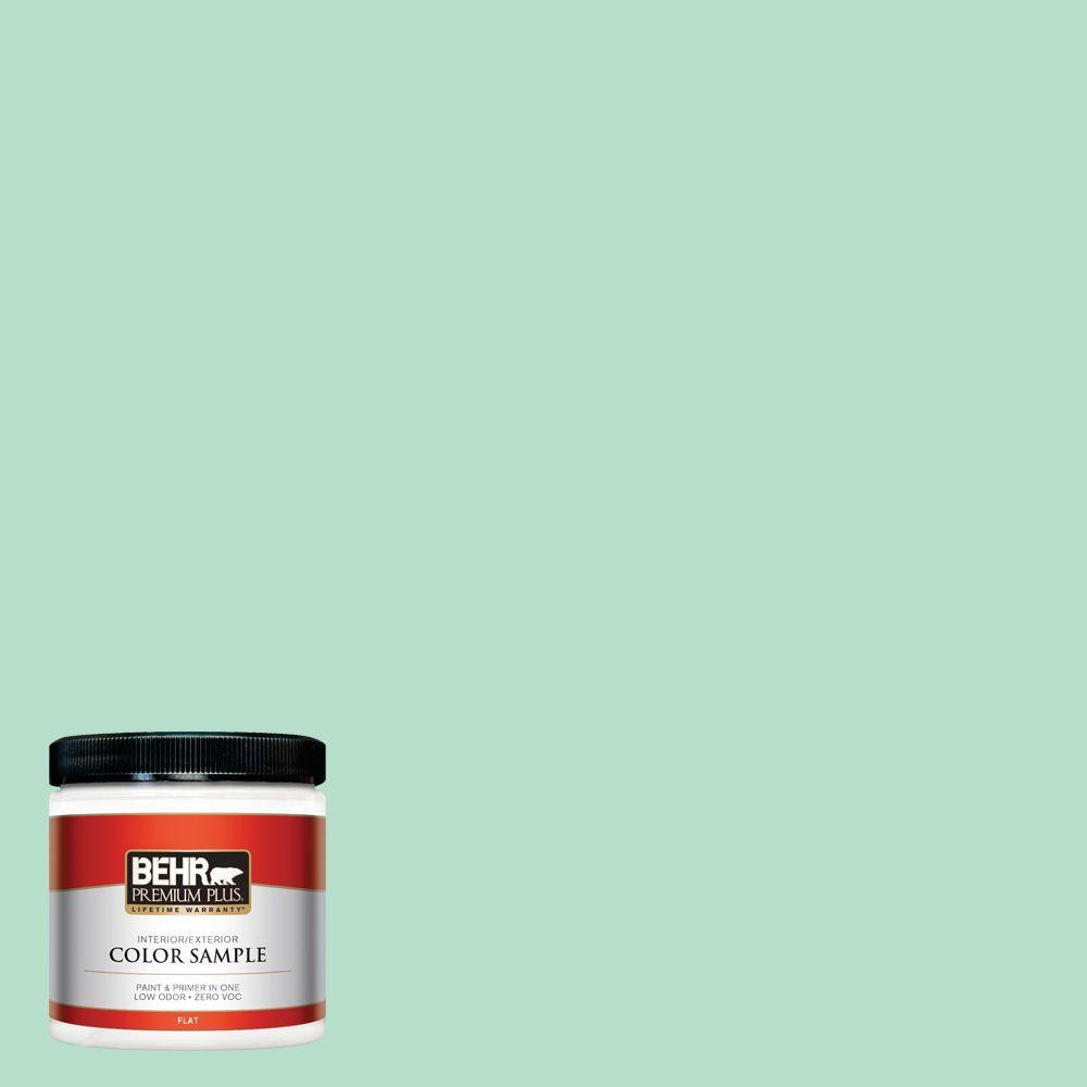 BEHR Premium Plus 8 oz. #480C-3 Aqua Bay Interior/Exterior Paint Sample
