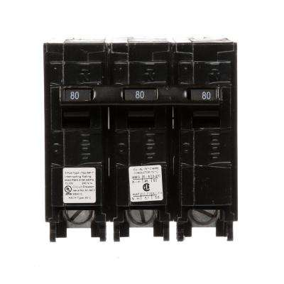 80 Amp 3-Pole Type MP Plug-In Circuit Breaker