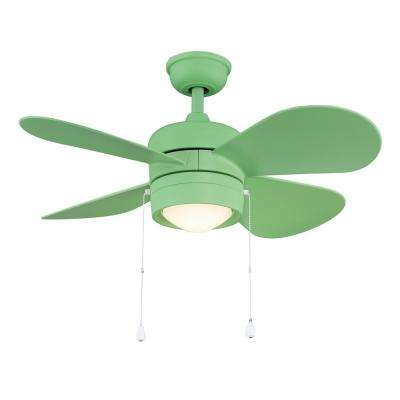 Padgette 36 in. LED Green Ceiling Fan