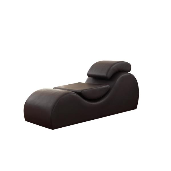 Chaise Lounge Chair.Us Pride Furniture Braflin Dark Brown Faux Leather Stretch Chaise