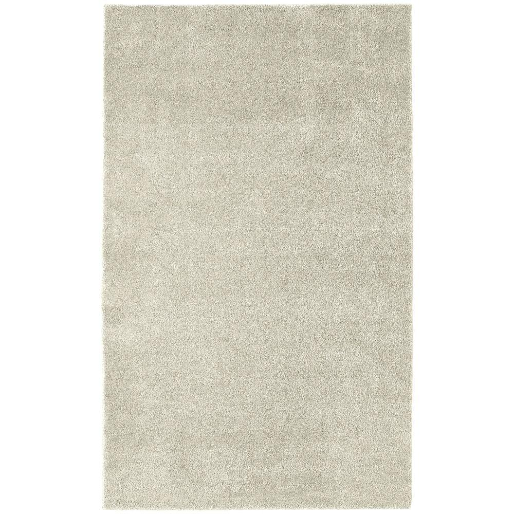 Garland Rug Washable Room Size Bathroom Carpet Ivory 5 ft. x 8 ft ...