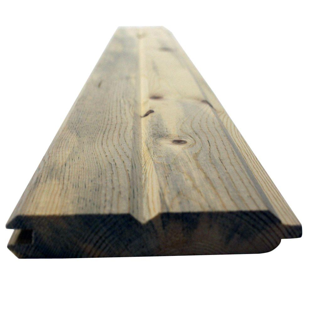 1 in. x 6 in. x 10 ft. 3 and Better Blue Stain WP4/#116 Tongue and Groove Pine Board