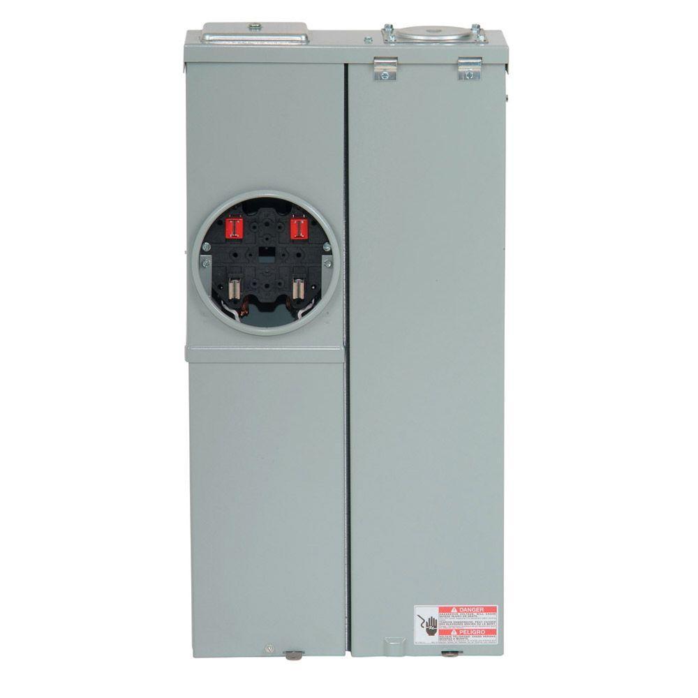 CH 200 Amp 2-Space 4-Circuit EUSERC Main Lug Combination Service Entrance Device