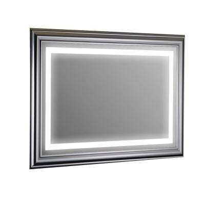 Lite 35 in. W x 24 in. H LED Wall Mounted Vanity Bathroom LED Mirror in Glass