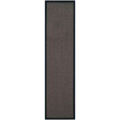 Natural Fiber Charcoal 3 ft. x 16 ft. Runner Rug
