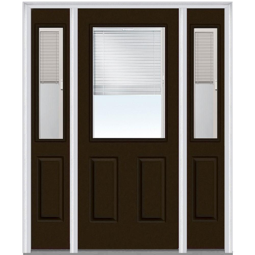 Mmi Door 60 In X 80 In Internal Blinds Right Hand 12 Lite Clear