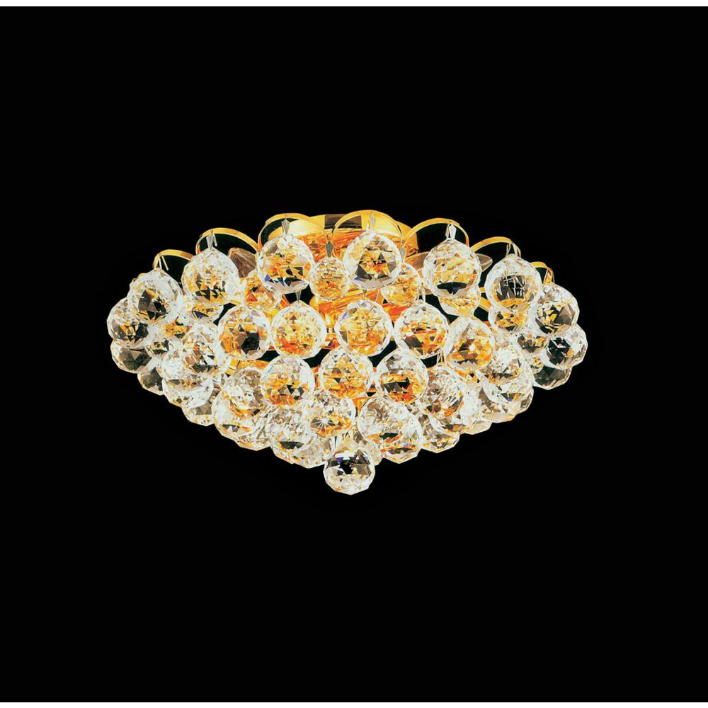 Crystal World Glimmer 4-Light Gold Semi-Flush Mount
