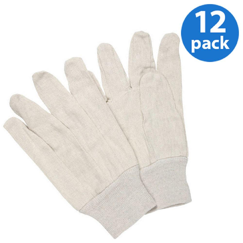 GLV-190.20 Men/'s Large EURO TOOL Mens Large 12 Pack Lightweight Cotton Gloves