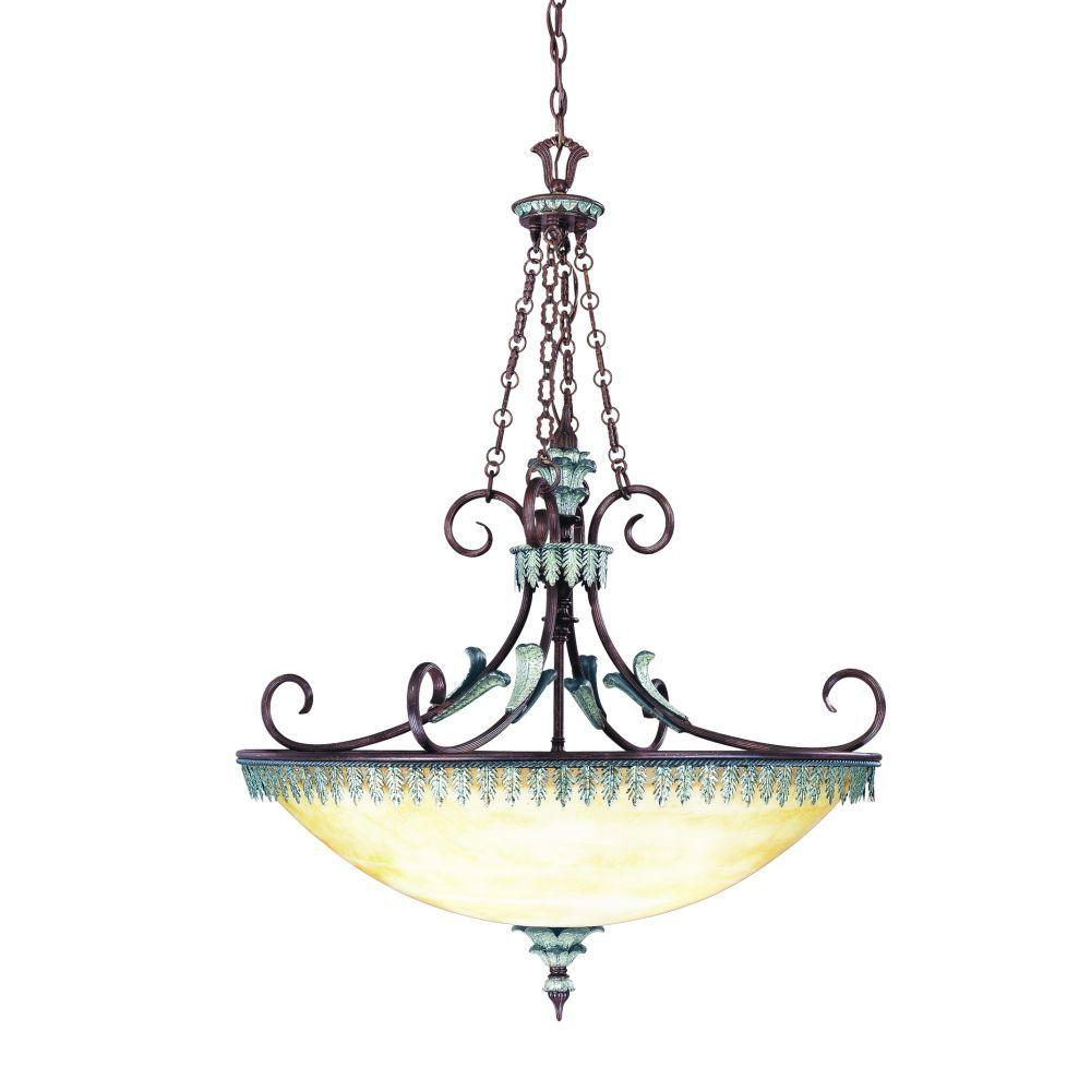 Eurofase Charington Collection 4-Light Hanging Bronze Bowl Pendant-DISCONTINUED