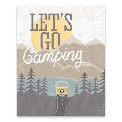"""Let's Go Camping"" by Lot26 Studio Printed Canvas Wall Art"