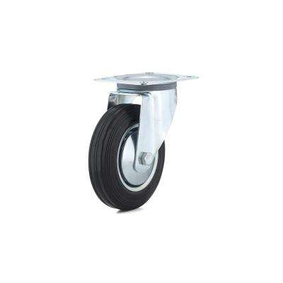 6-5/16 in. black Swivel Without Brake plate Caster, 308.7 lb. Load Rating
