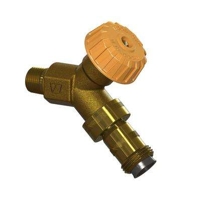 1/2 in. x 1/2 in. MPT x Copper Sweat Mild Climate Brass Wall Hydrant with Double-Check Backflow Preventer