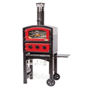 Fornetto Wood and Charcoal Fired Oven and Smoker in Red by Fornetto