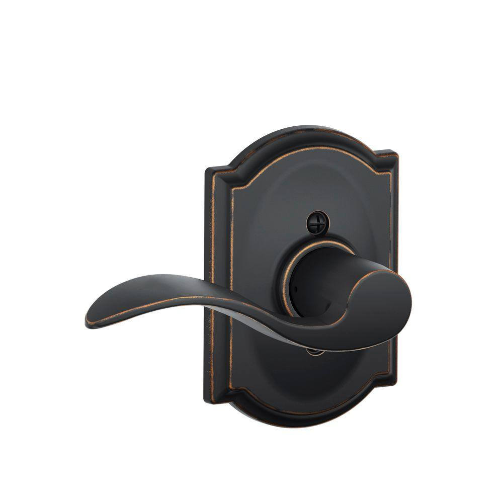 Camelot Collection Accent Aged Bronze Left-Hand Dummy Lever