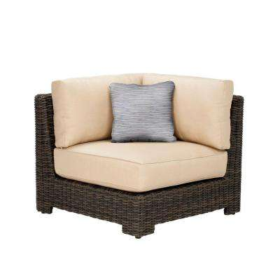 Northshore Corner Patio Sectional Chair With Harvest Cushion And Congo  Throw Pillow    CUSTOM