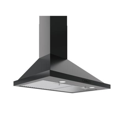 Ombra 36 in. Convertible Wall Mount Range Hood with Halogen Lights in Black Stainless Steel