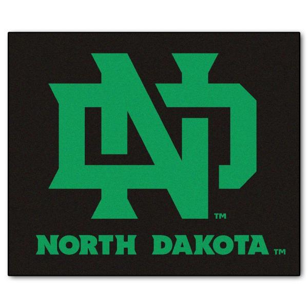 NCAA University of North Dakota Black 5 ft. x 6 ft. Area Rug