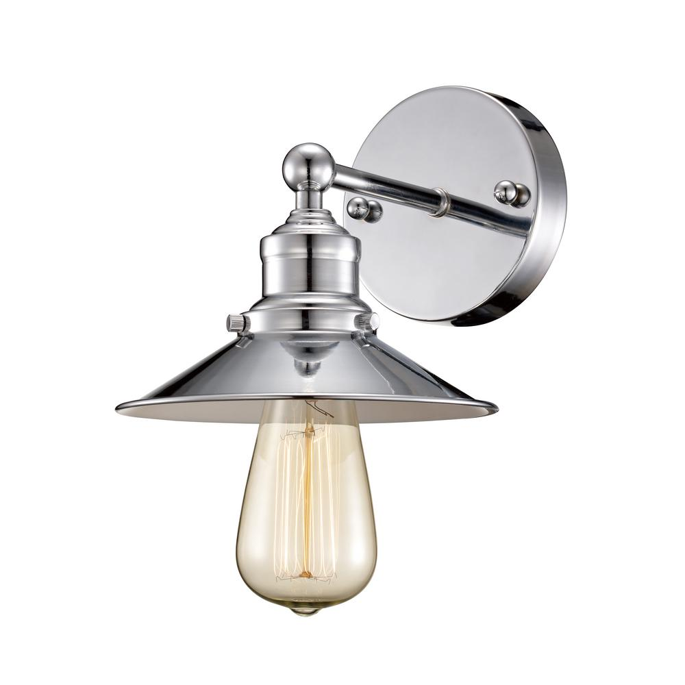 Bel Air Lighting Griswald 1-Light Polished Chrome Sconce