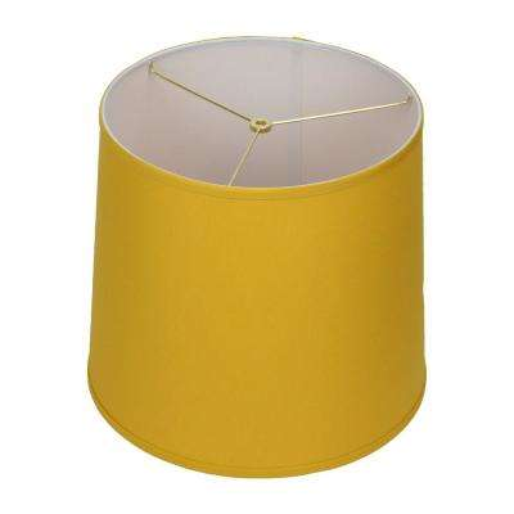 14 in. Top Diameter x 16 in. Bottom Diameter x 14 in. Slant Linen Curry Empire Lamp Shade