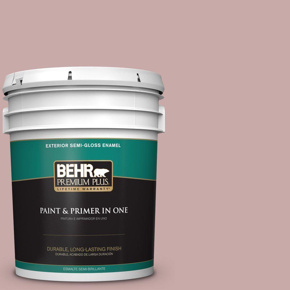 5-gal. #130E-3 Rosy Tan Semi-Gloss Enamel Exterior Paint