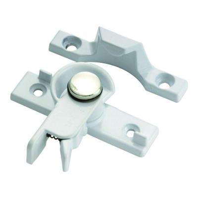 Cam Action White Safety Sash Window Lock