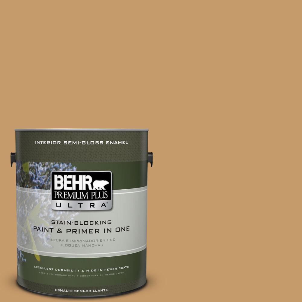 BEHR Premium Plus Ultra 1-gal. #S290-5 Amber Autumn Semi-Gloss Enamel Interior Paint