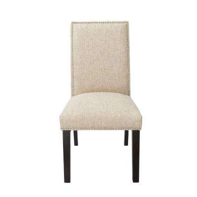 Burnett Sand Fabric Parsons Dining Chair