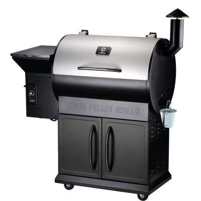 Z GRILLS 700E 694 sq. inch Wood Pellet Grill and Smoker 8-in-1 BBQ in Stainless Steel