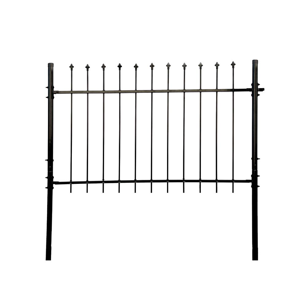 Athens Style 5 ft. x 5 ft. Black Steel DIY Fence
