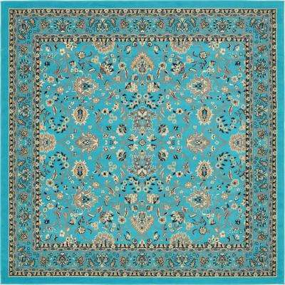 Kashan Turquoise 8 Ft X Square Area Rug