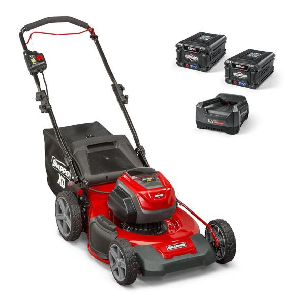 Snapper Xd 82 Volt Max Cordless Electric 21 In Lawn Mower Kit With 2 2 0 Batteries And 1 Rapid Charger 1687884 The Home Depot