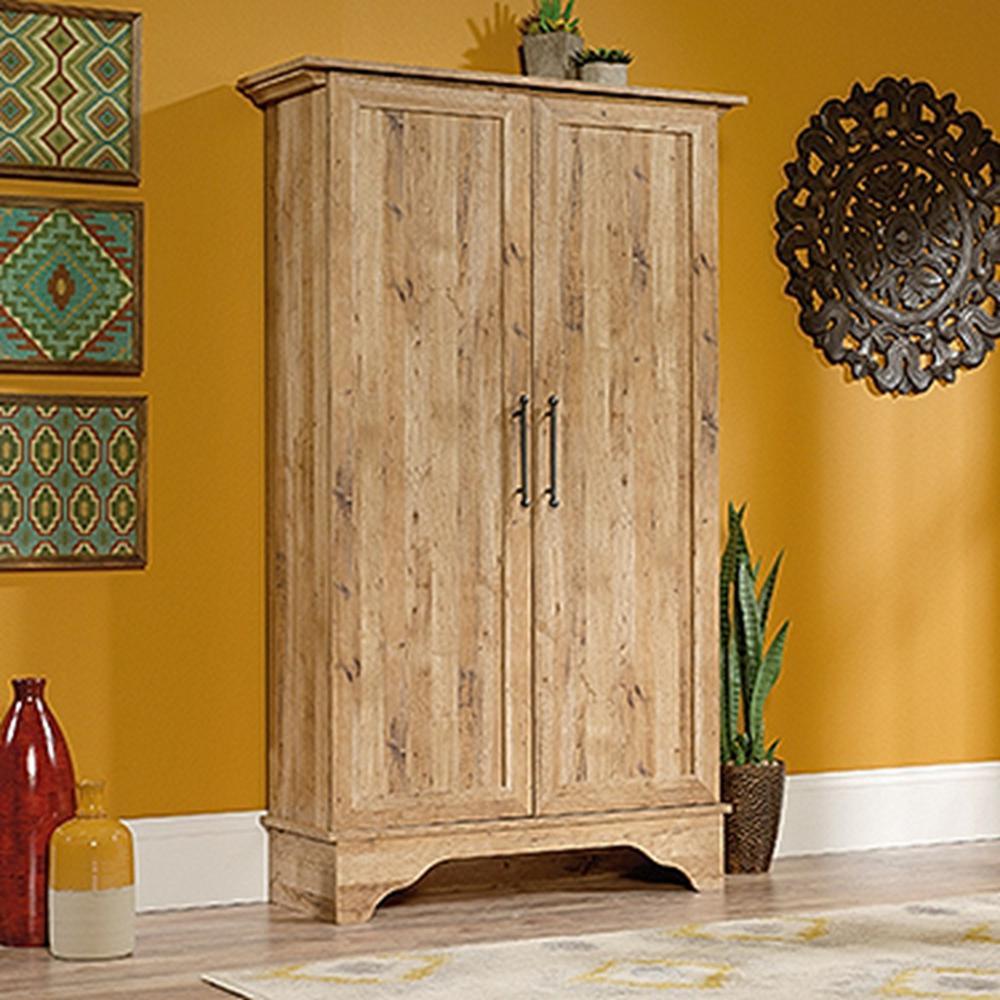 Viabella Collection Antigua Chestnut Storage Cabinet