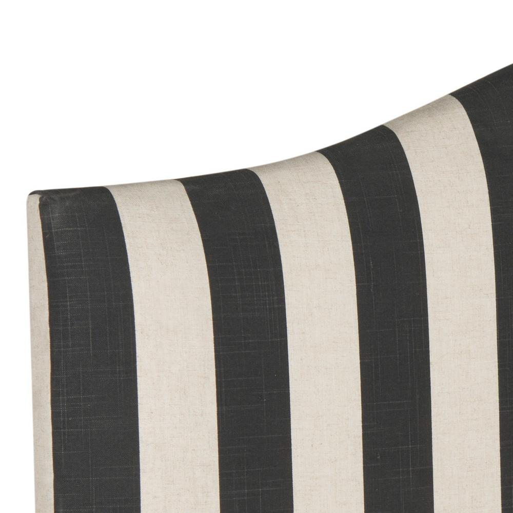 Connie Black/White Stripe Full Headboard