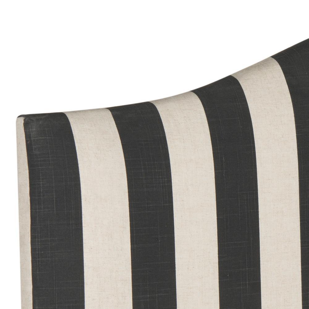 Safavieh Connie Black/White Stripe Full Headboard MCR4619U