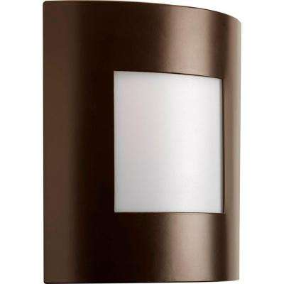 Anson Collection 1-Light 10.25 in. Outdoor Architectural Bronze Wall Lantern Sconce