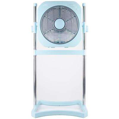 12 in. 3-Speed 3-in-1 Stand Fan with Swirl Cool Technology - Turquoise