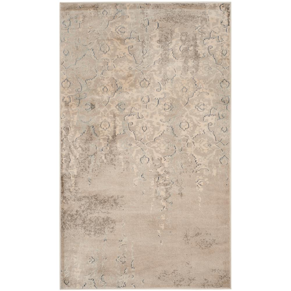 Vintage Gray/Ivory 3 ft. x 5 ft. Area Rug