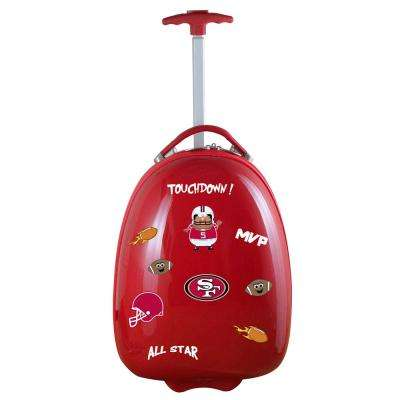 NFL San Francisco 49ers 18 in. Red Kids Pod Luggage Suitcase
