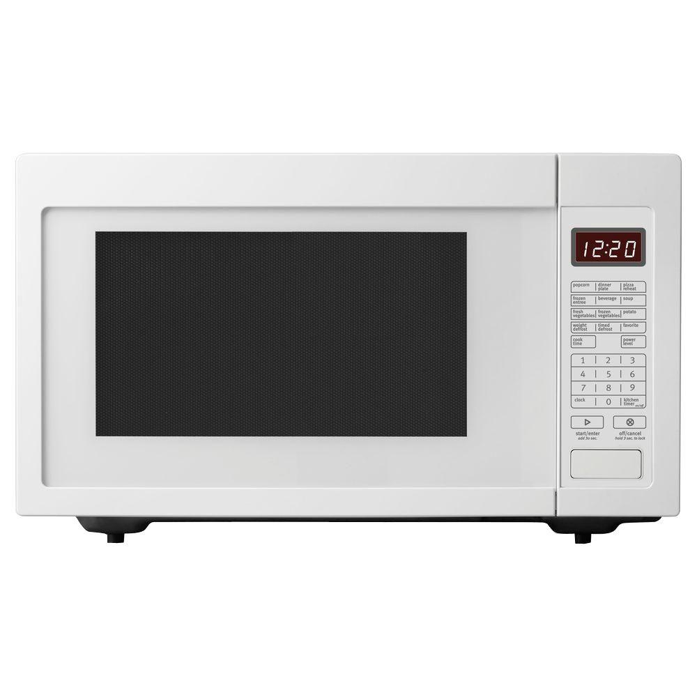 whirlpool 2 2 cu ft countertop microwave in white built in capable with sensor cooking. Black Bedroom Furniture Sets. Home Design Ideas