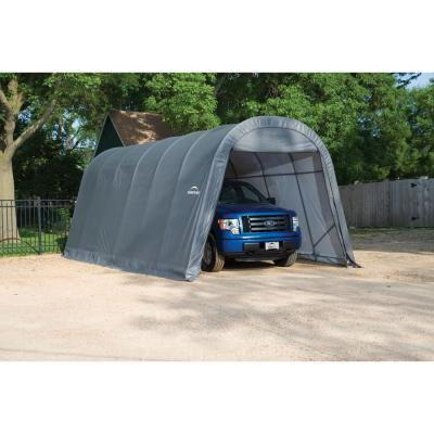 ShelterCoat 13 ft. x 24 ft. Wind and Snow Rated Garage Round Gray STD