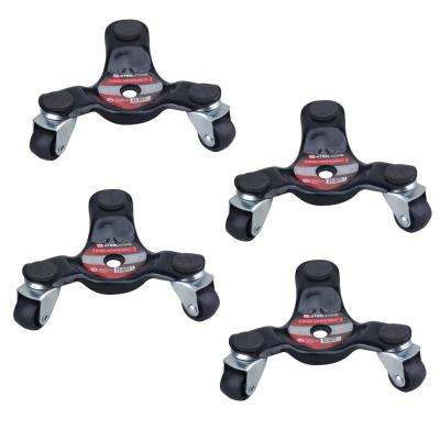 160 lbs. Capacity Three-Wheel Mover Dollies (4-Pack)