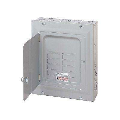 BR 125 Amp 6-Space 12-Circuit Indoor Main Lug Loadcenter with Surface Door and Ground Bar