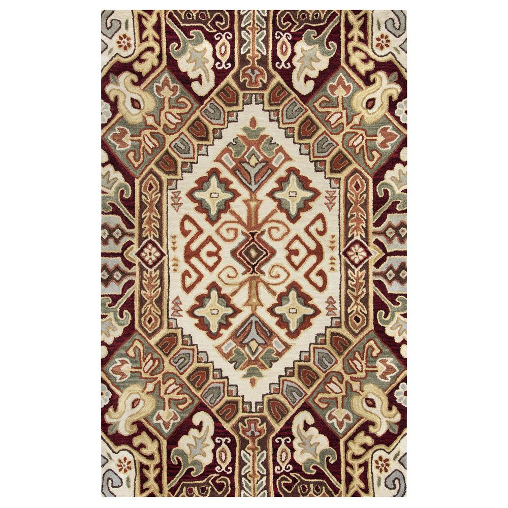 Rizzy Home Southwest Multicolor 8 Ft X 8 Ft Round Area Rug