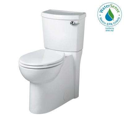 Cadet 3 FloWise Tall Height 2-piece 1.28 GPF Round Toilet with Right Hand Trip Lever Concealed Trapway in White