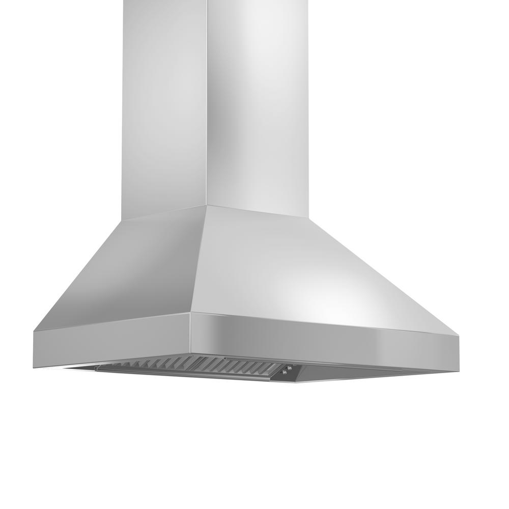 Zline kitchen and bath 60 in convertible wall mount range hood in stainless steel