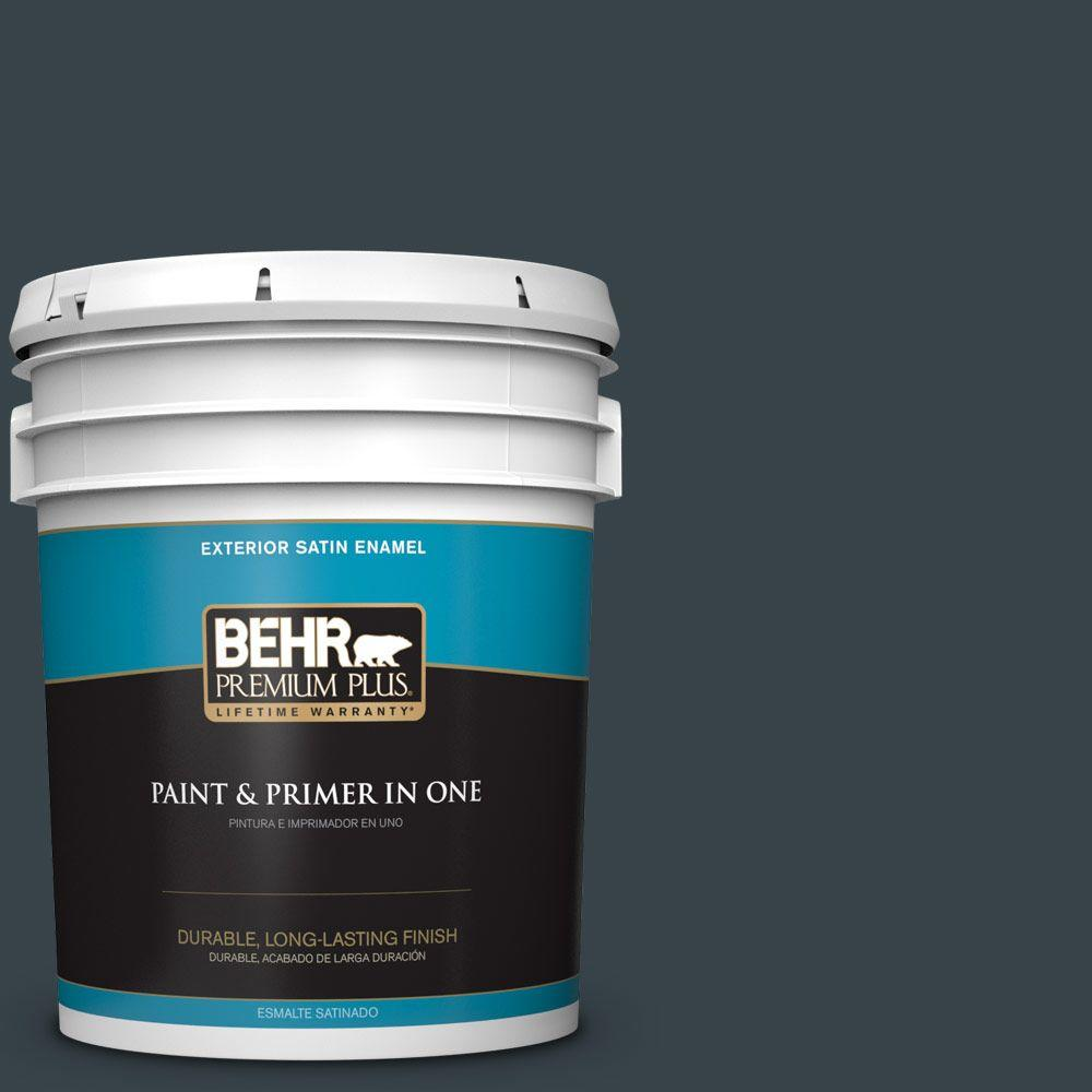 5-gal. #740F-7 Night Shade Satin Enamel Exterior Paint