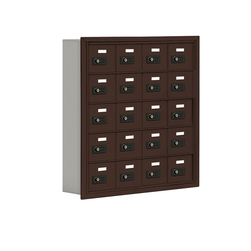 Salsbury Industries 19000 Series 30.5 in. W x 31 in. H x 5.75 in. D 20 A Doors R-Mount Resettable Locks Cell Phone Locker in Bronze